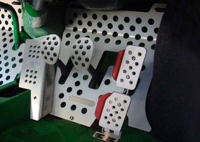 Custom Automotive race car pedals
