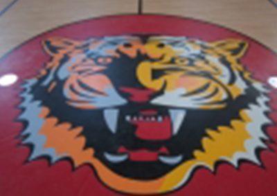 Custom Basketball Court Flooring with Logo